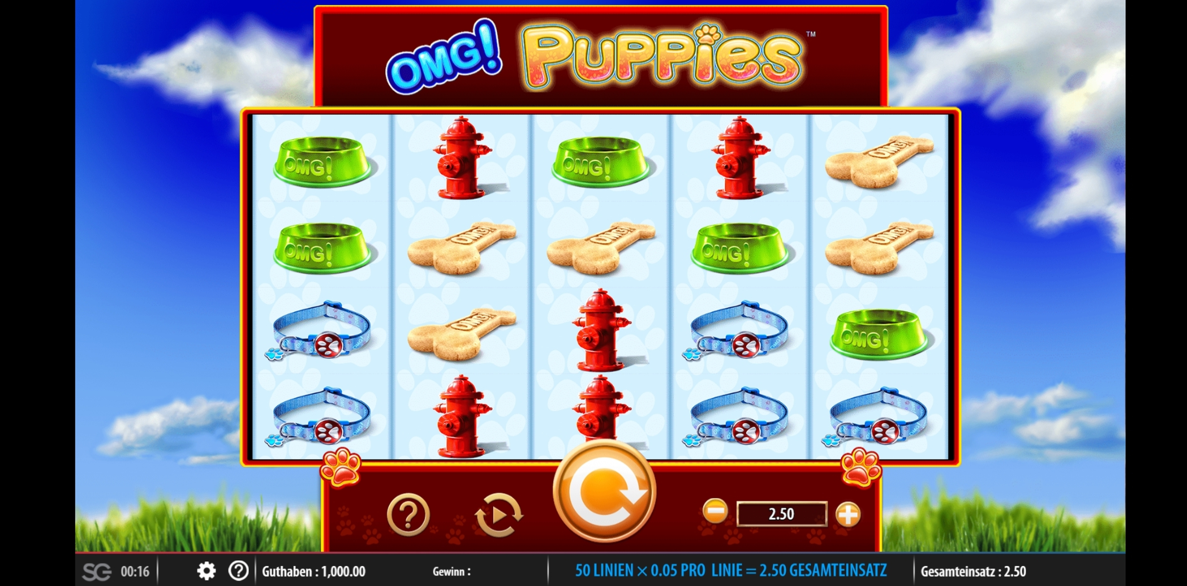 Reels in OMG! Puppies Slot Game by WMS