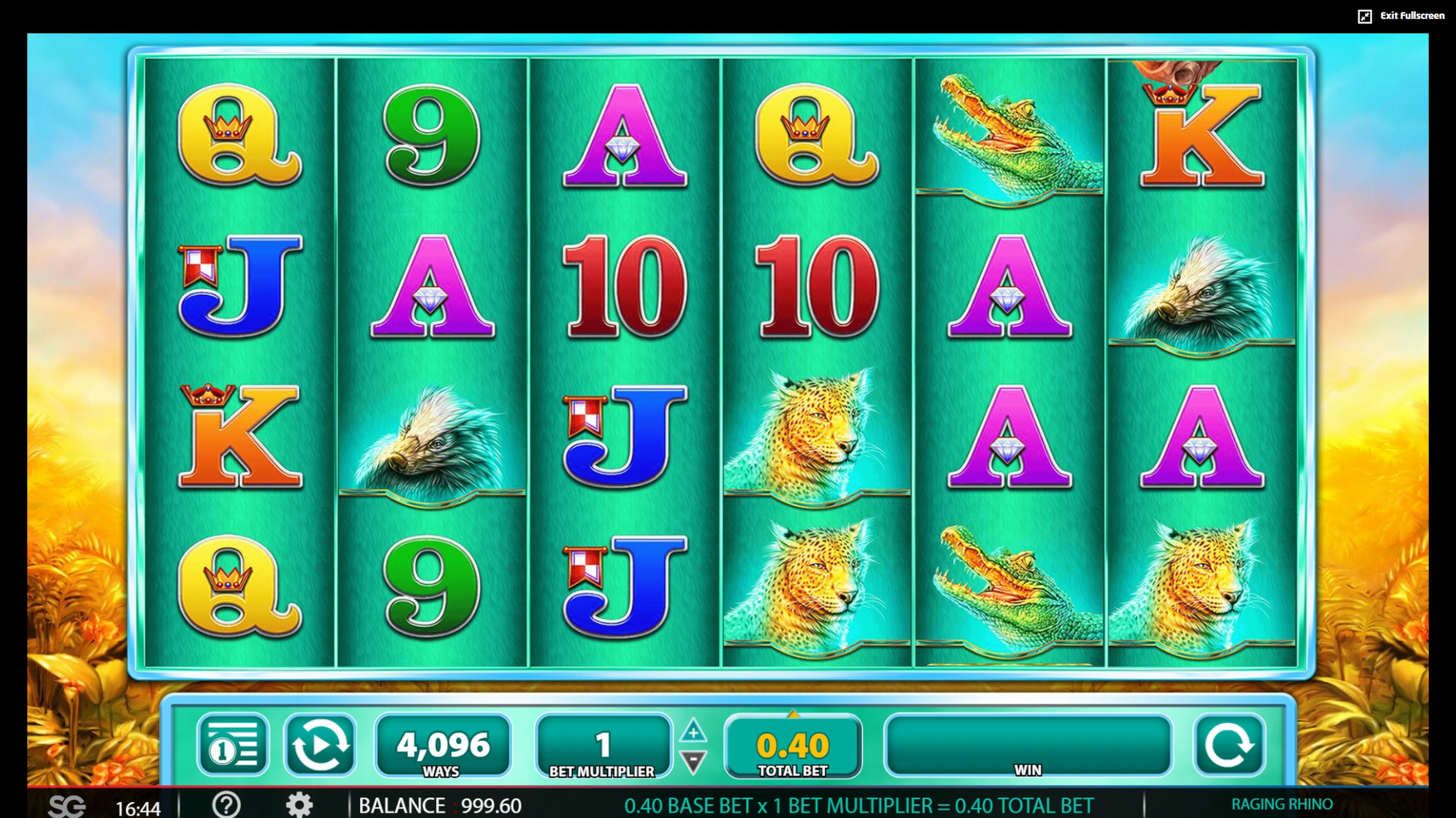 Reels in Raging Rhino Slot Game by WMS