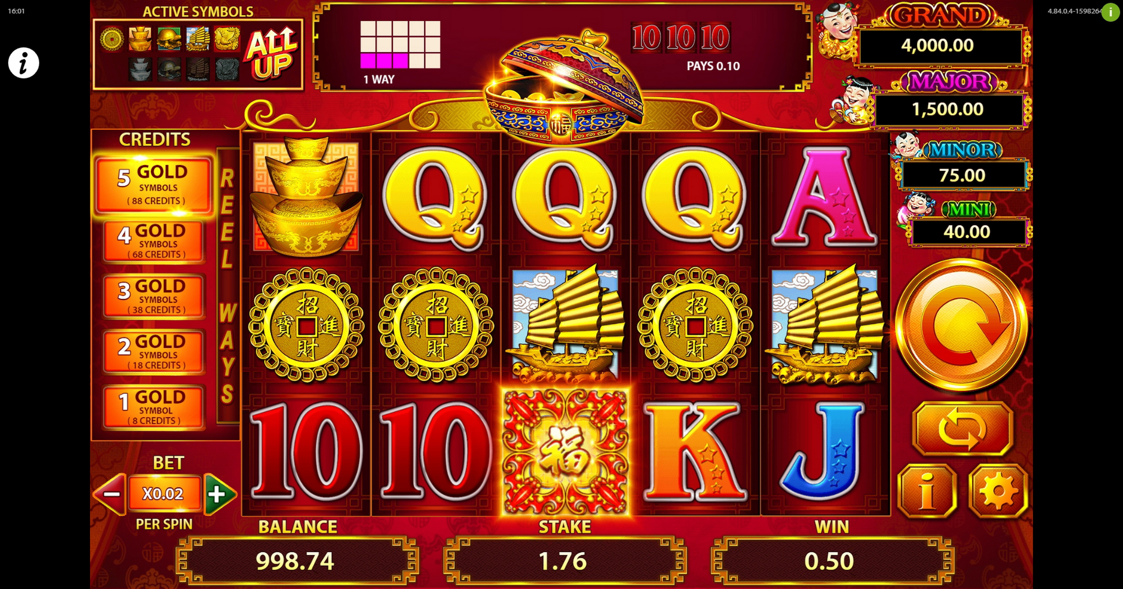 Win Money in 88 Fortunes Free Slot Game by SG