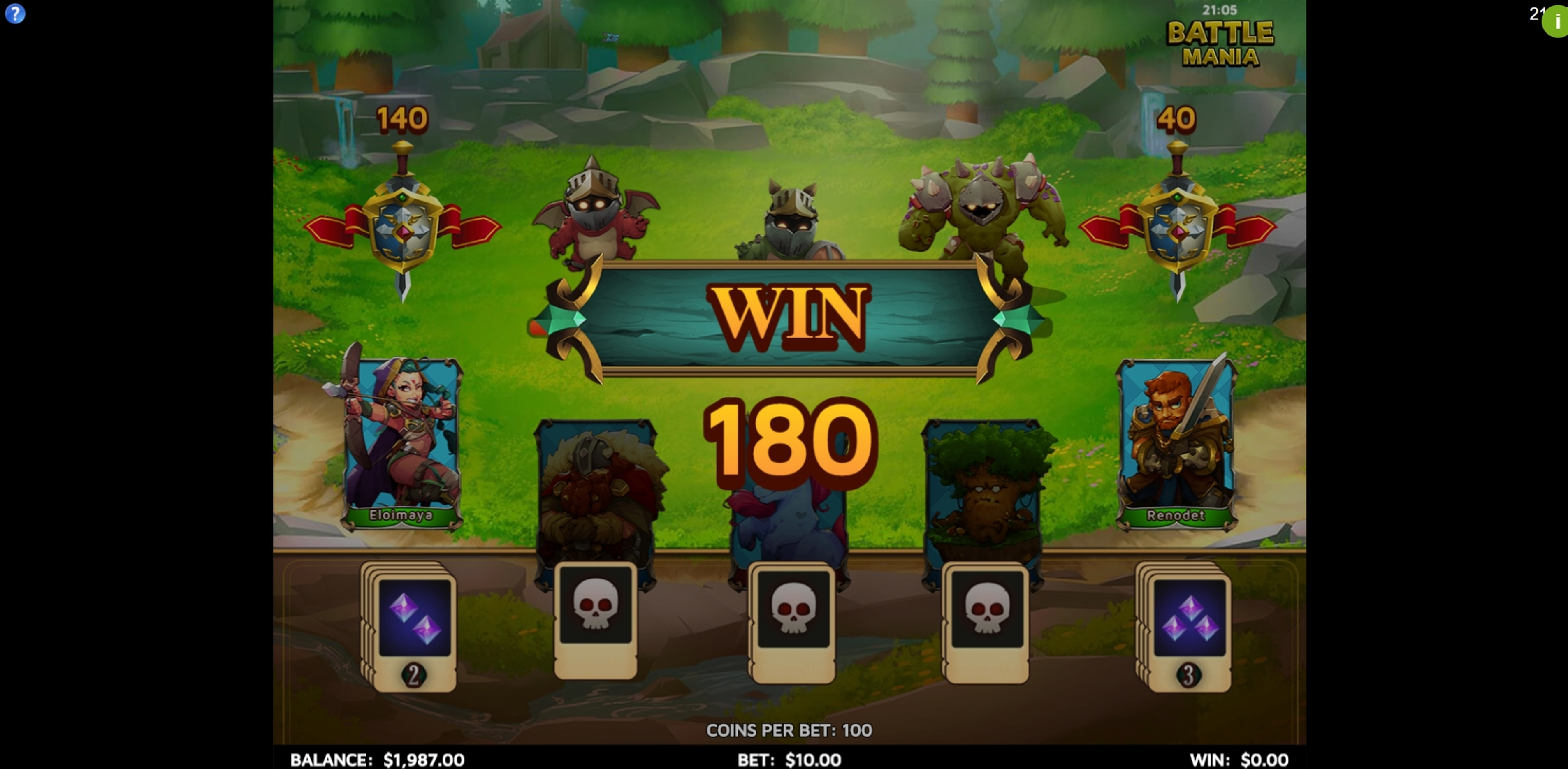 Win Money in Battle Mania Free Slot Game by Skillzzgaming