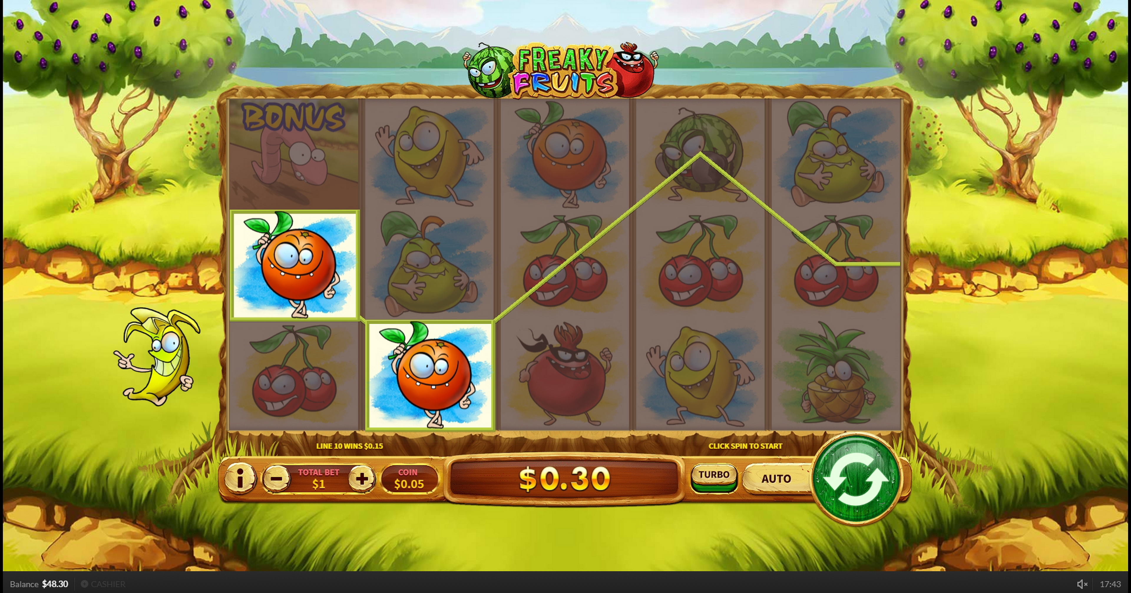 Win Money in Freaky Fruits Free Slot Game by Skywind Group