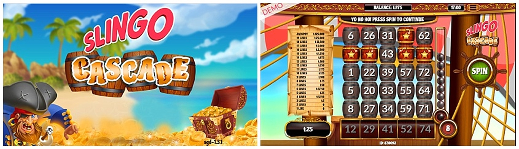 The Slingo Cascade Online Slot Demo Game by Slingo