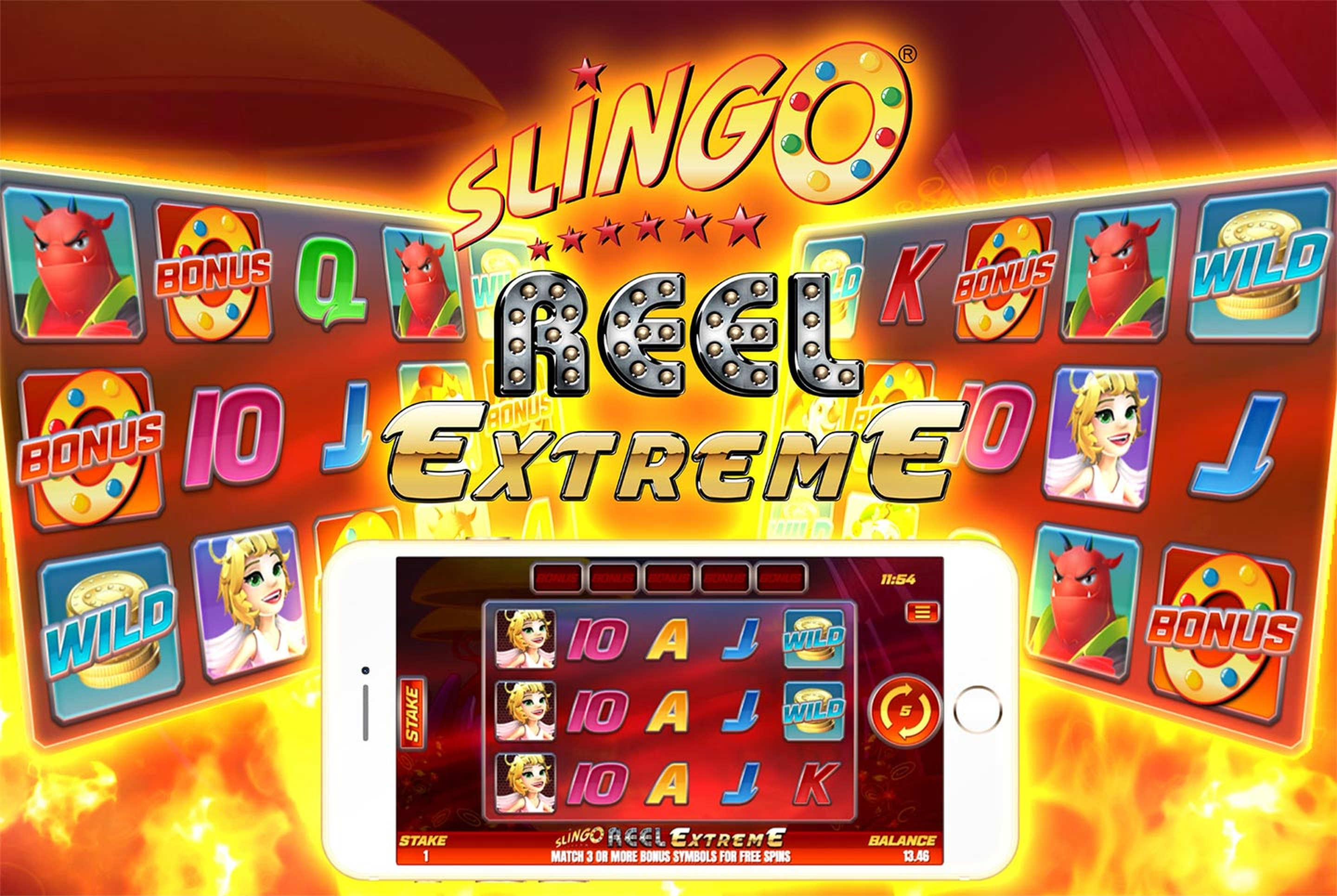 Reels in Slingo Reel Extreme Slot Game by Slingo Originals