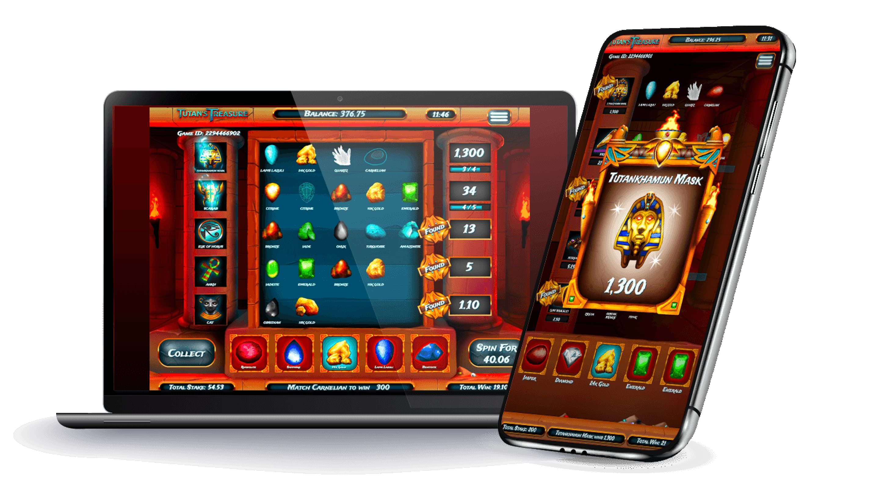 The Tutan's Treasure Online Slot Demo Game by Slingo