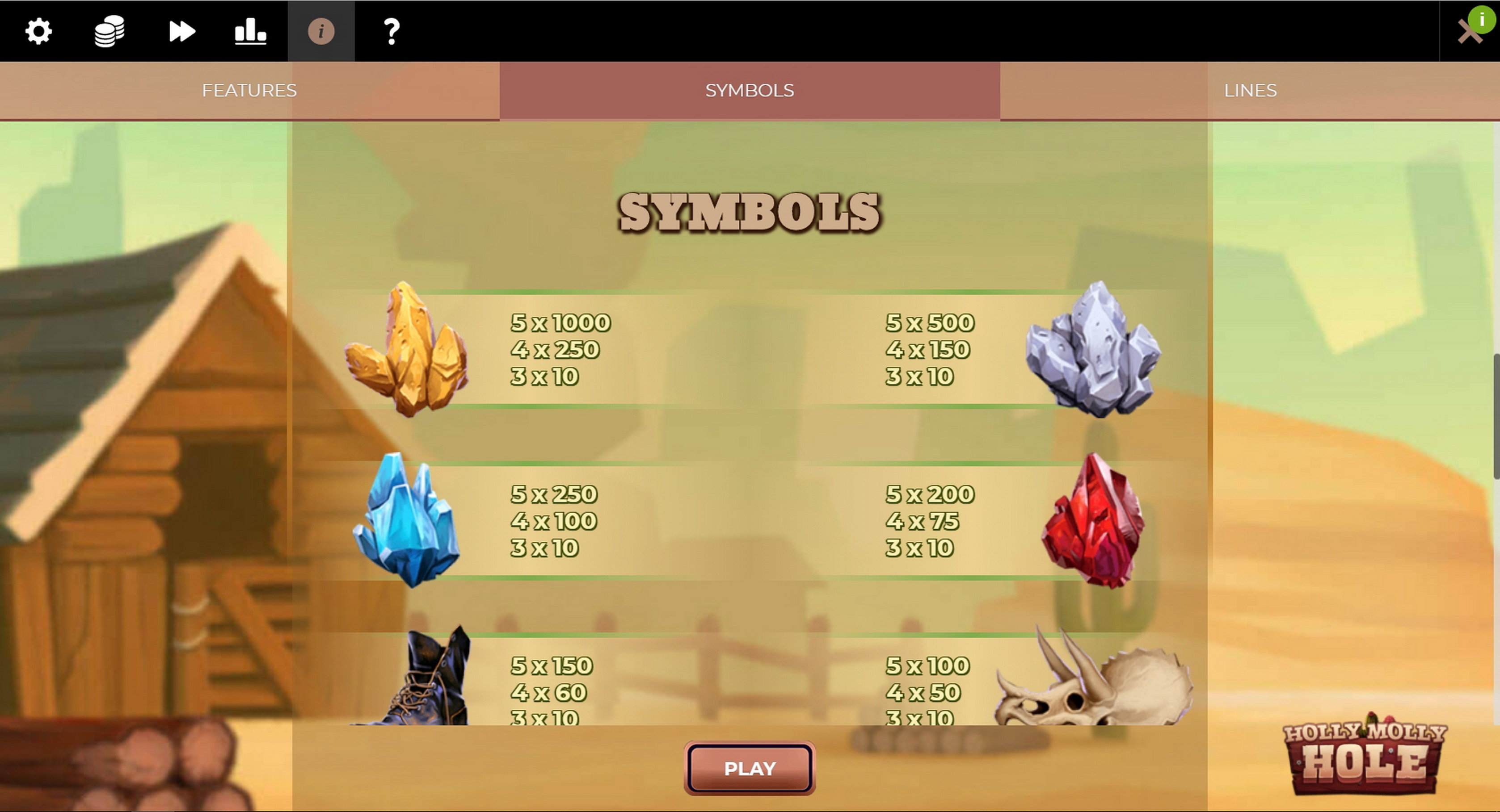 Info of Holly Molly Hole Slot Game by Spinmatic