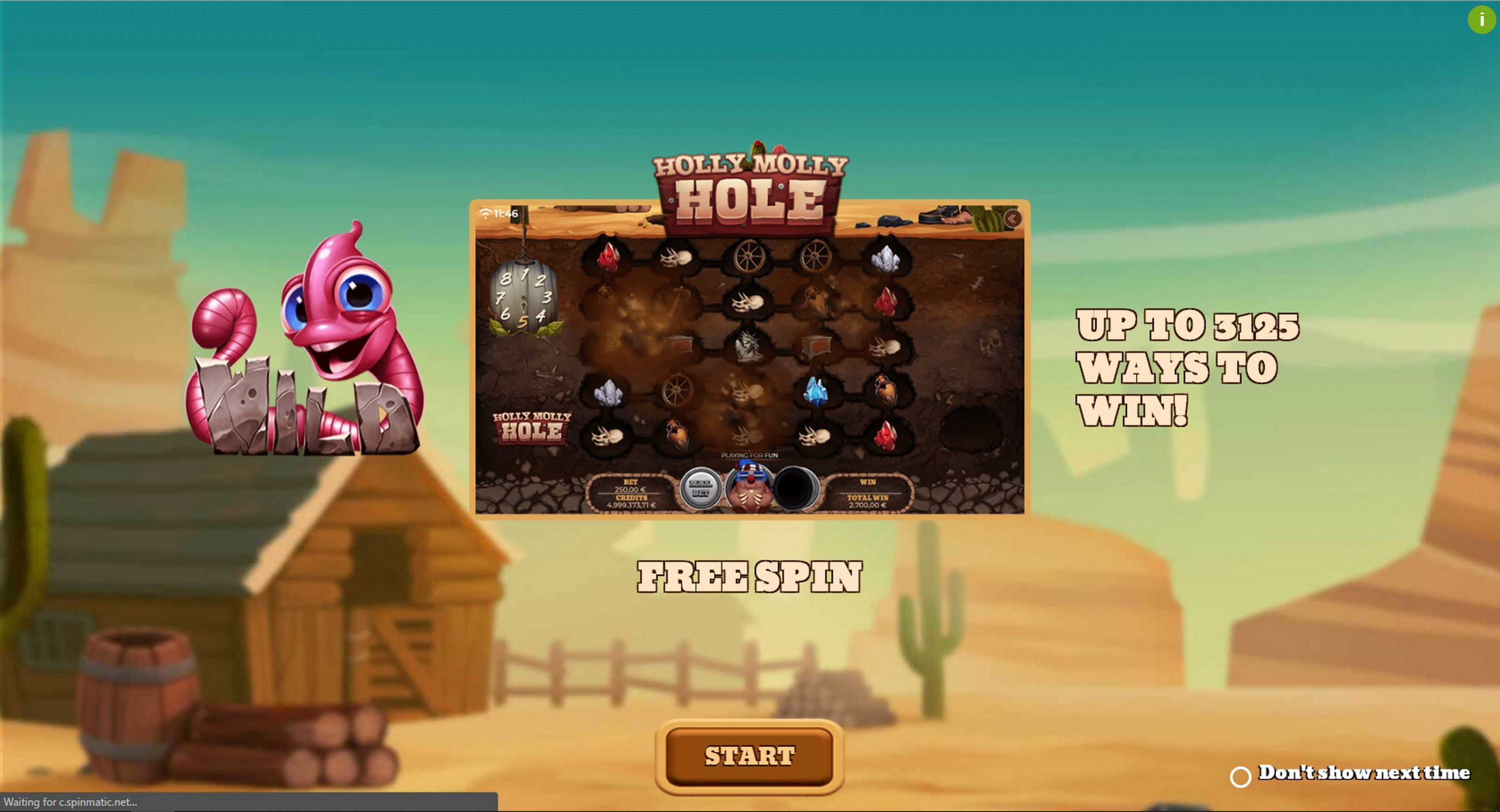 Play Holly Molly Hole Free Casino Slot Game by Spinmatic
