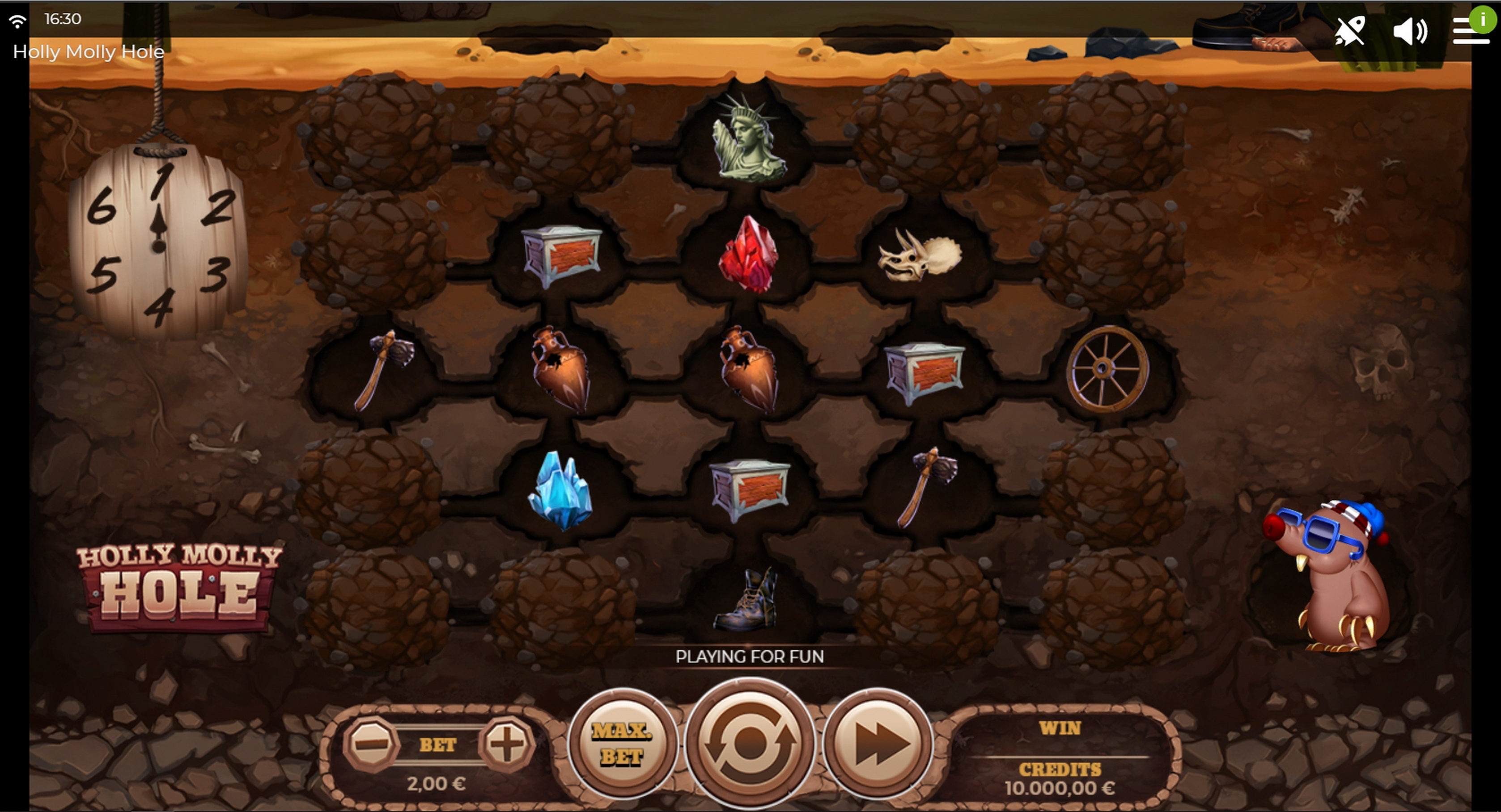 Reels in Holly Molly Hole Slot Game by Spinmatic