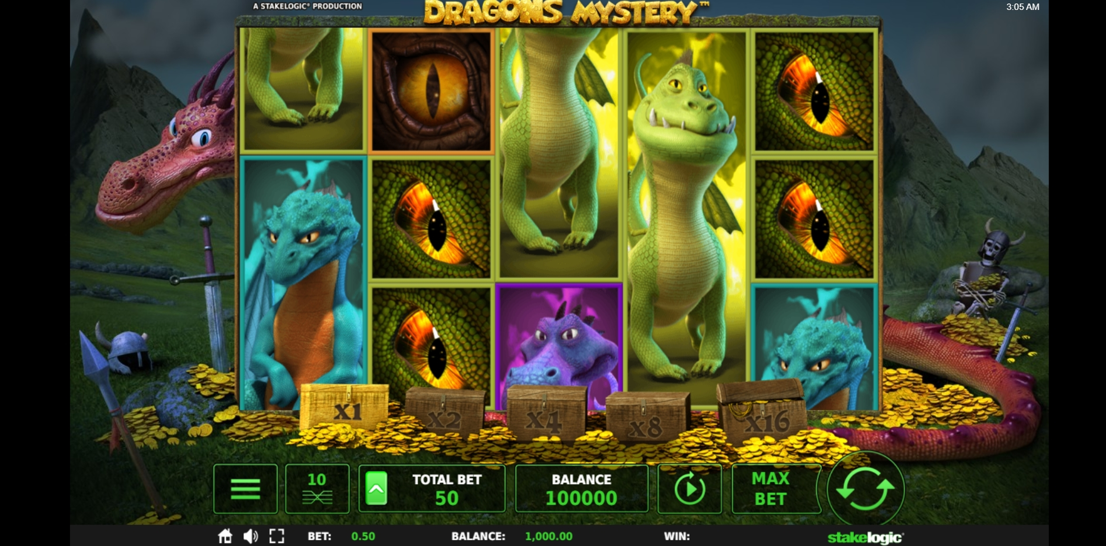 Reels in Dragons Mystery Slot Game by Stakelogic