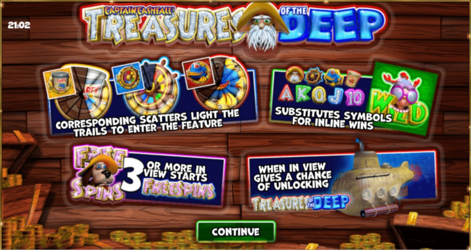 The Captain Cashfall's Treasures of the Deep Online Slot Demo Game by Storm Gaming