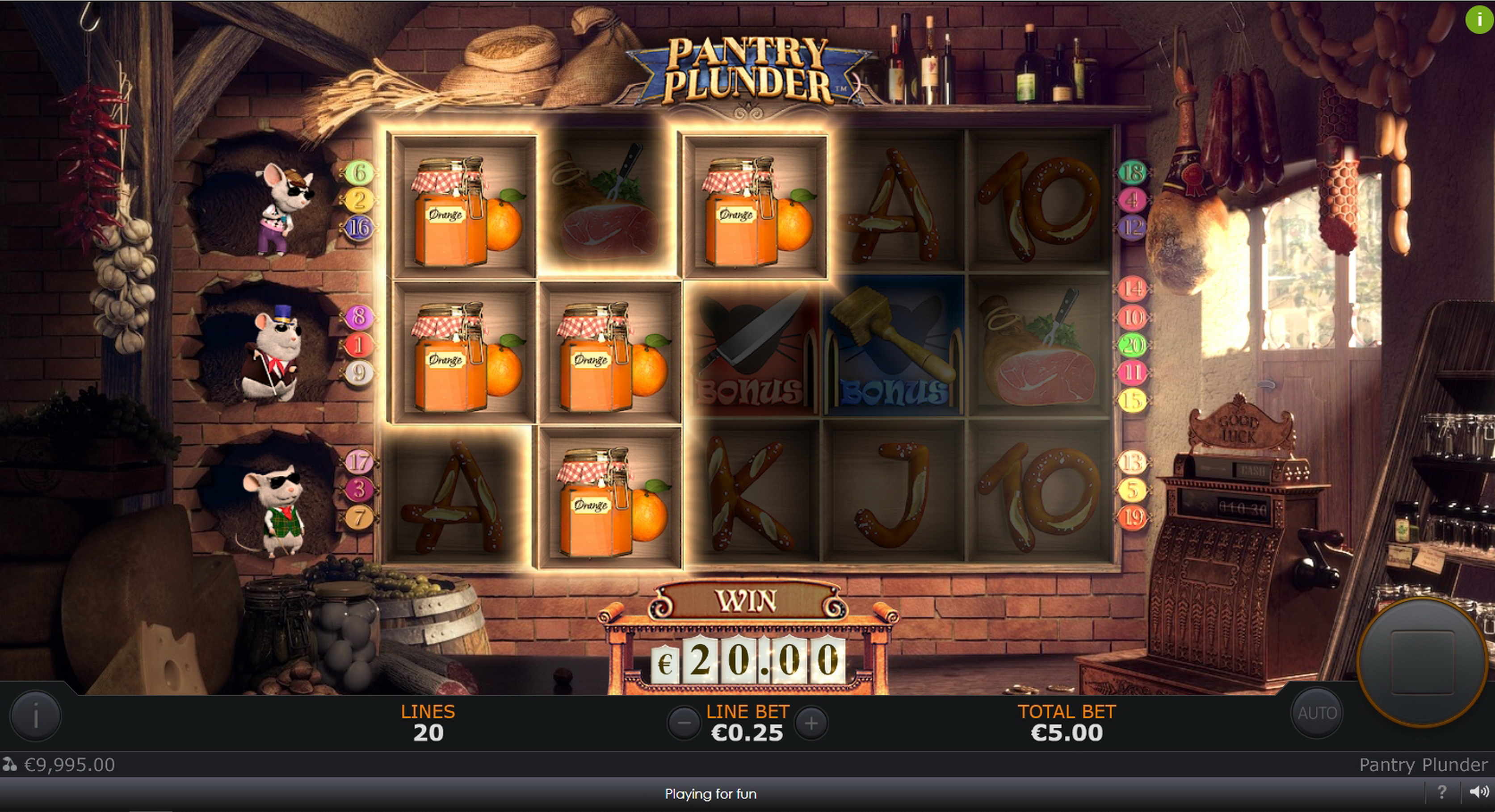 Win Money in Pantry Plunder Free Slot Game by SUNFOX Games