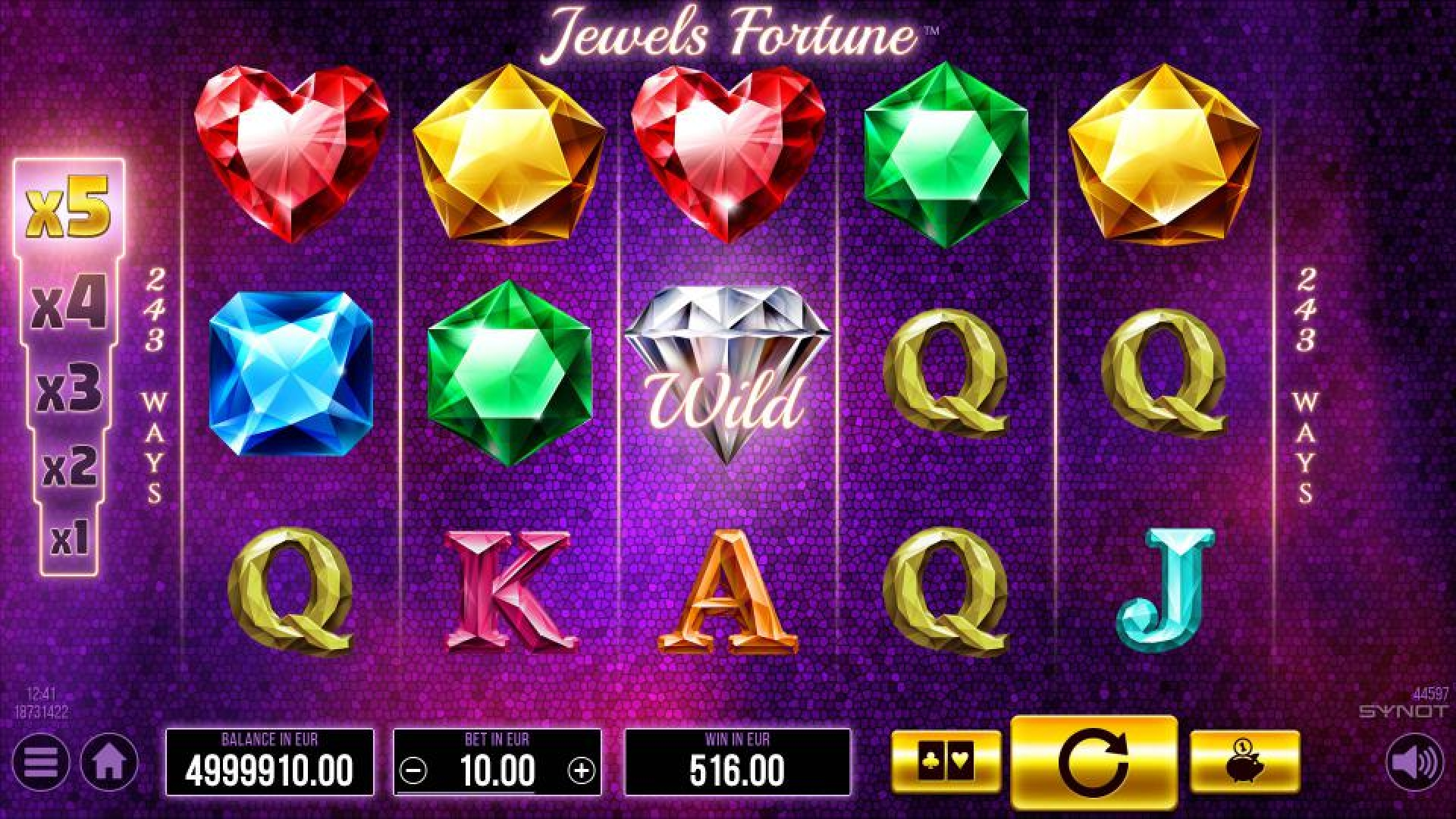 The Jewels Fortune Online Slot Demo Game by Synot Games