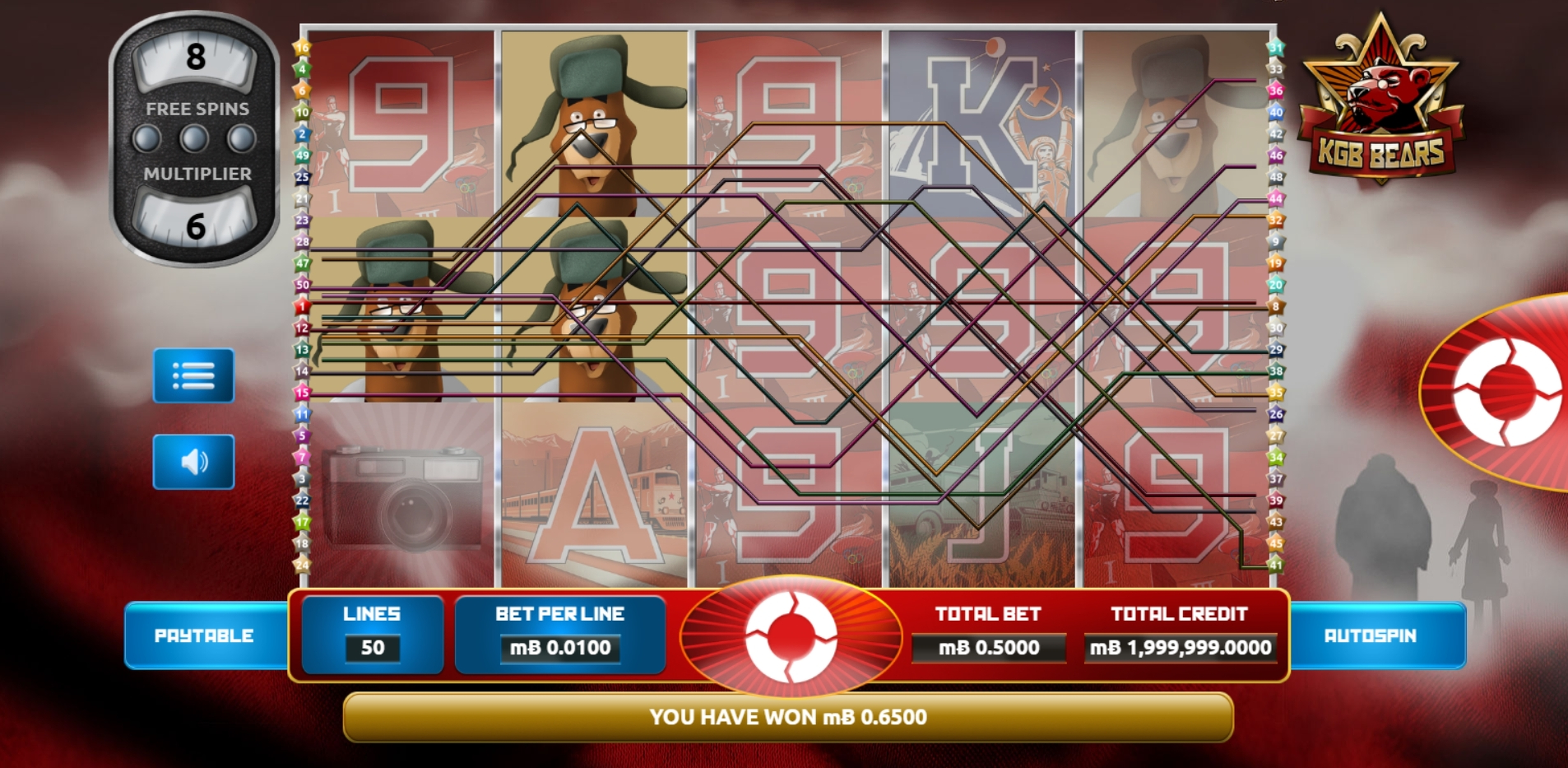 Win Money in KGB Bears Free Slot Game by The Games Company