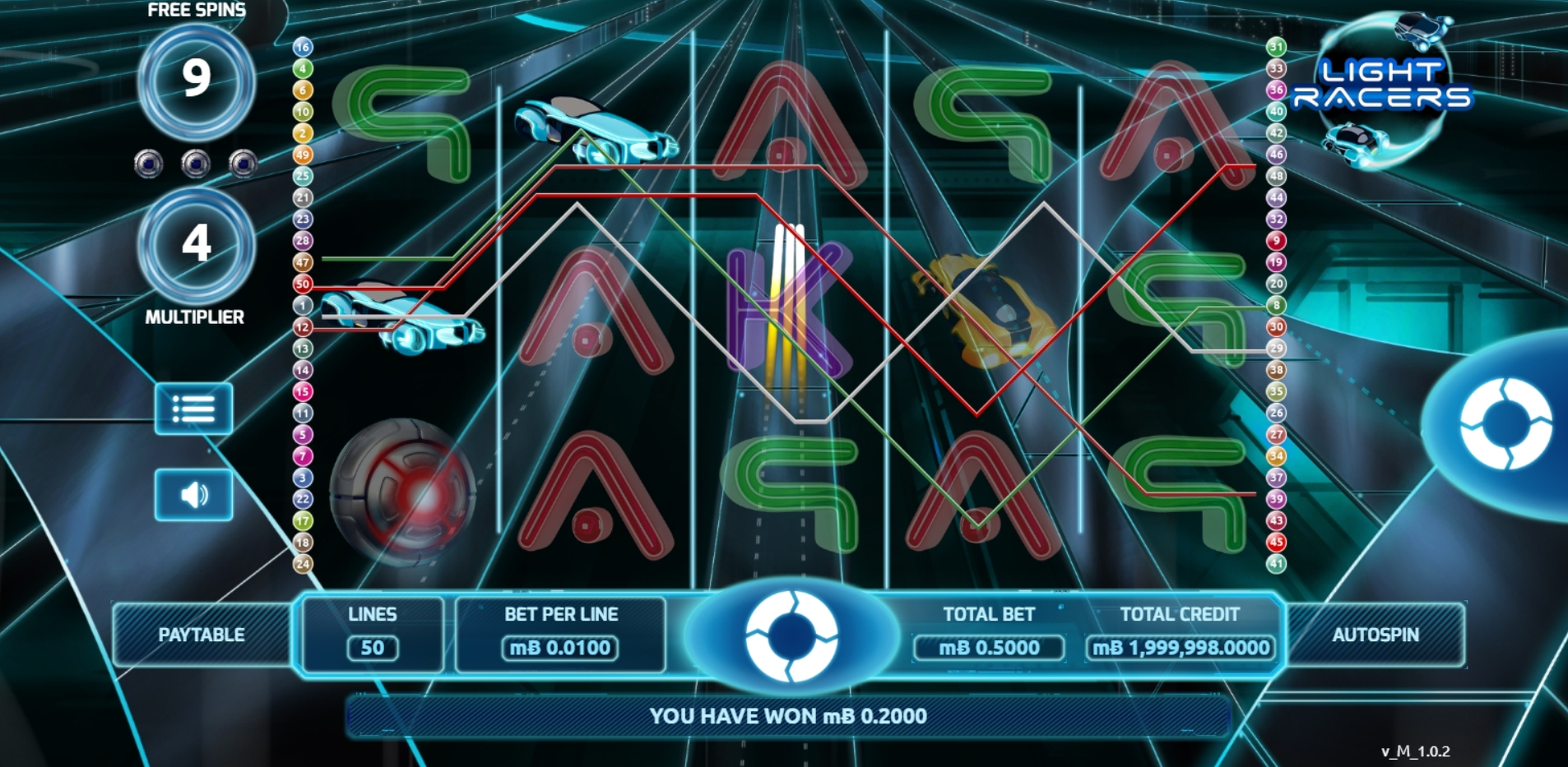 Win Money in Light Racers Free Slot Game by The Games Company