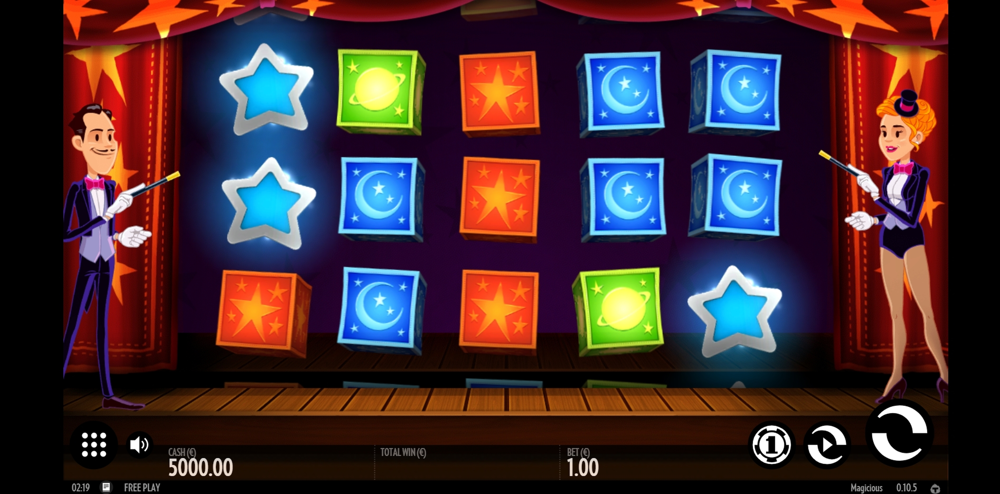 Reels in Magicious Slot Game by Thunderkick