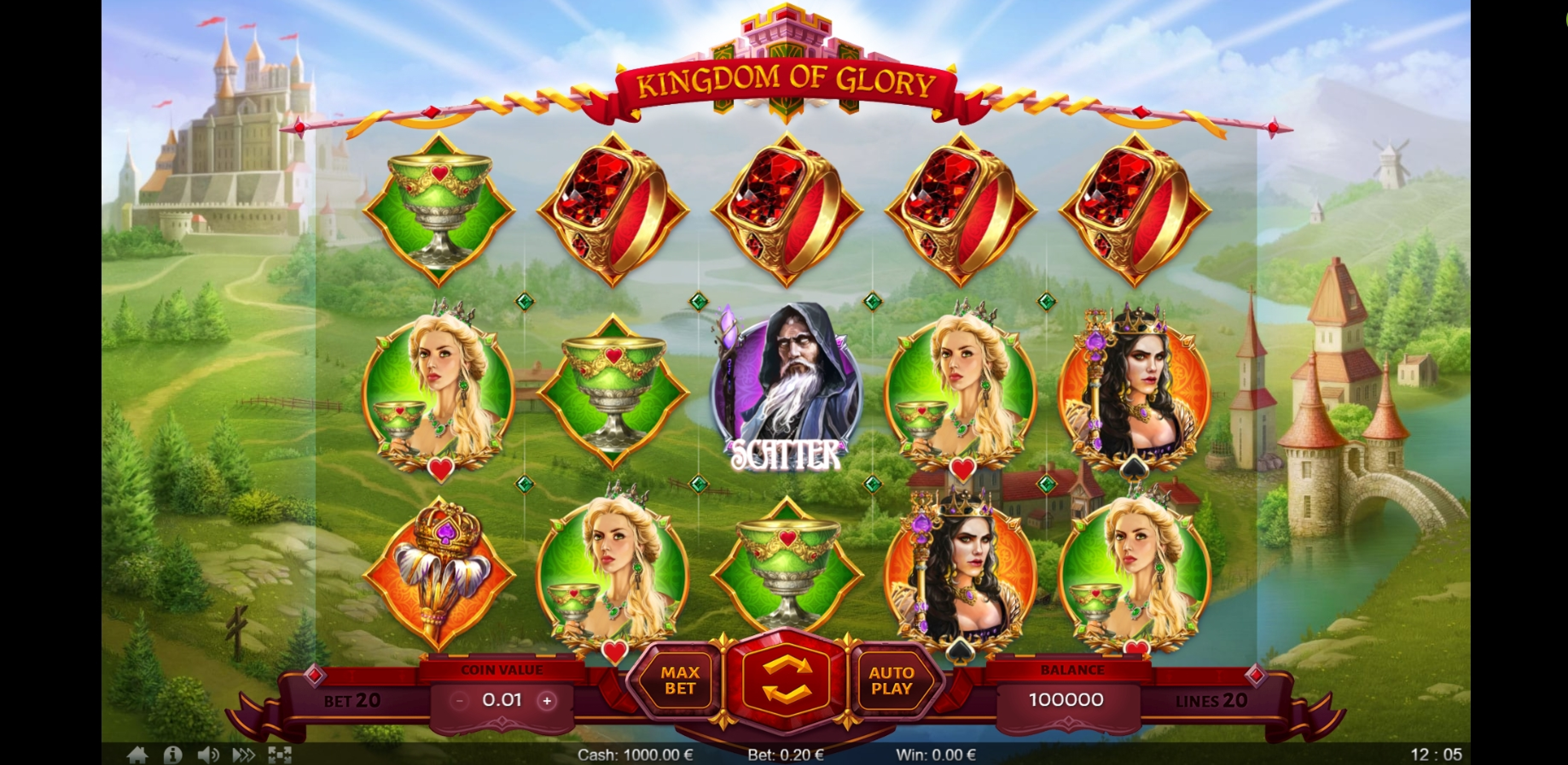 Reels in Kingdom of Glory Slot Game by Thunderspin