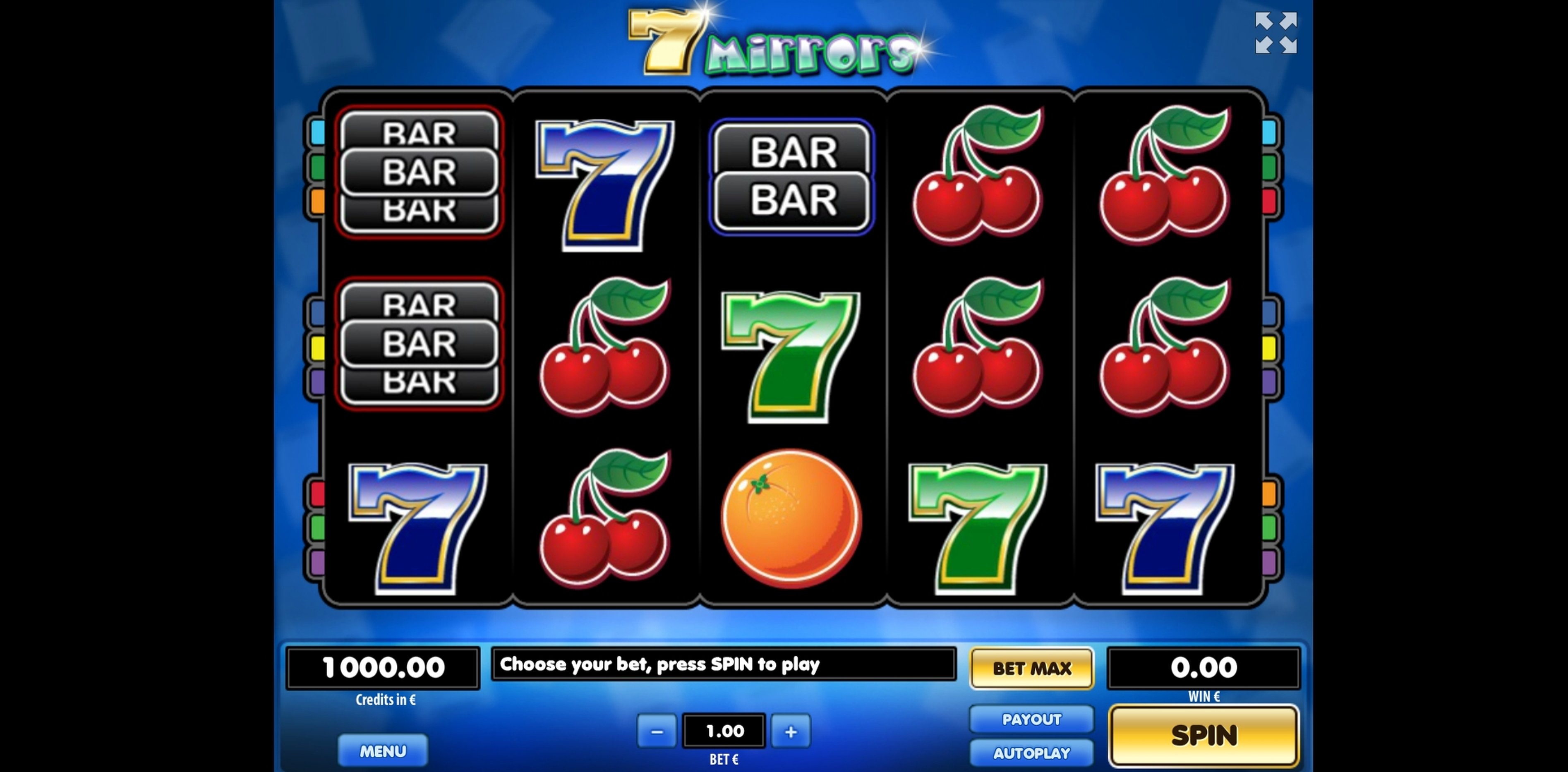 Reels in 7 Mirrors Slot Game by Tom Horn Gaming