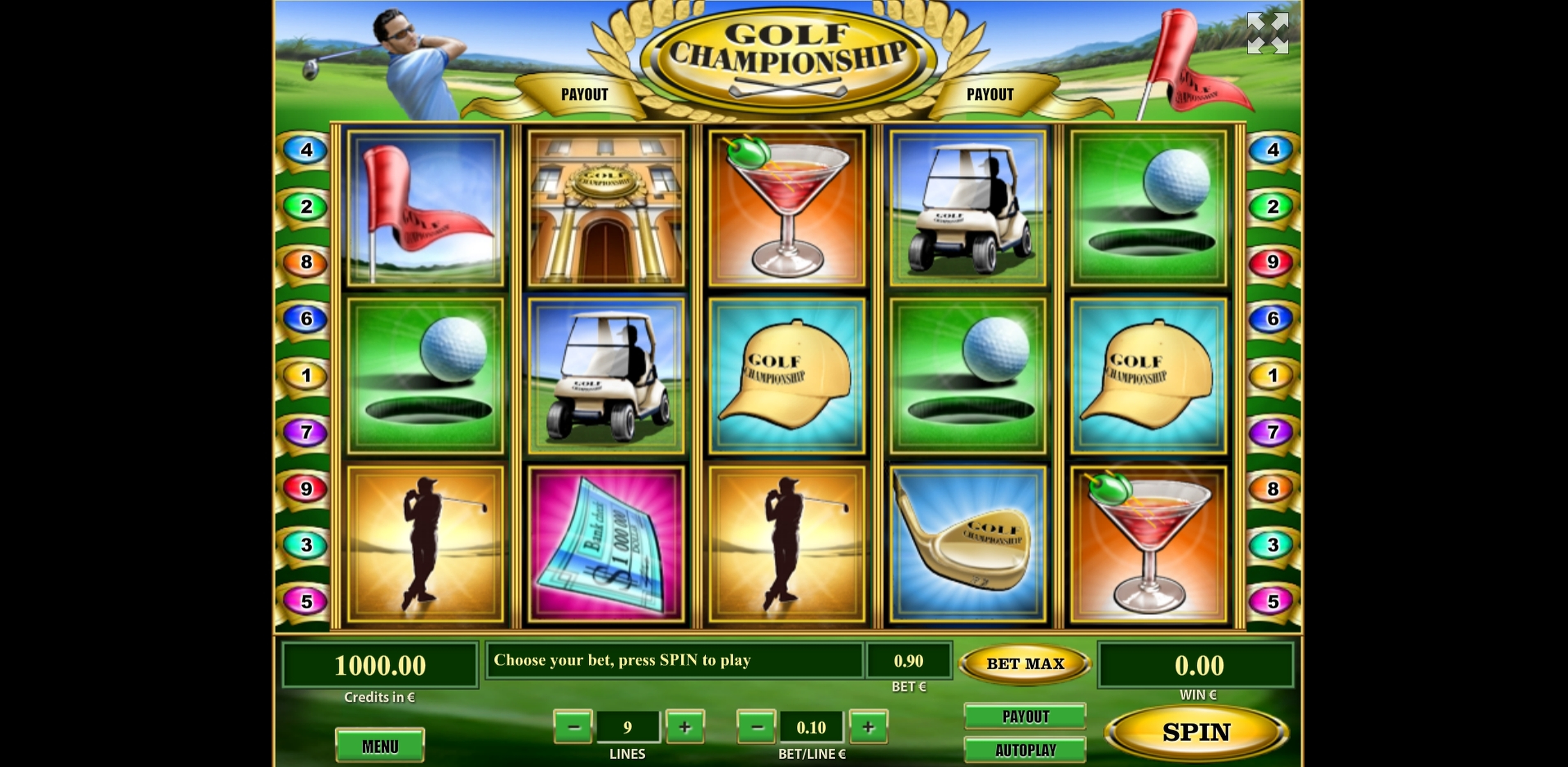 Reels in Golf Championship Slot Game by Tom Horn Gaming