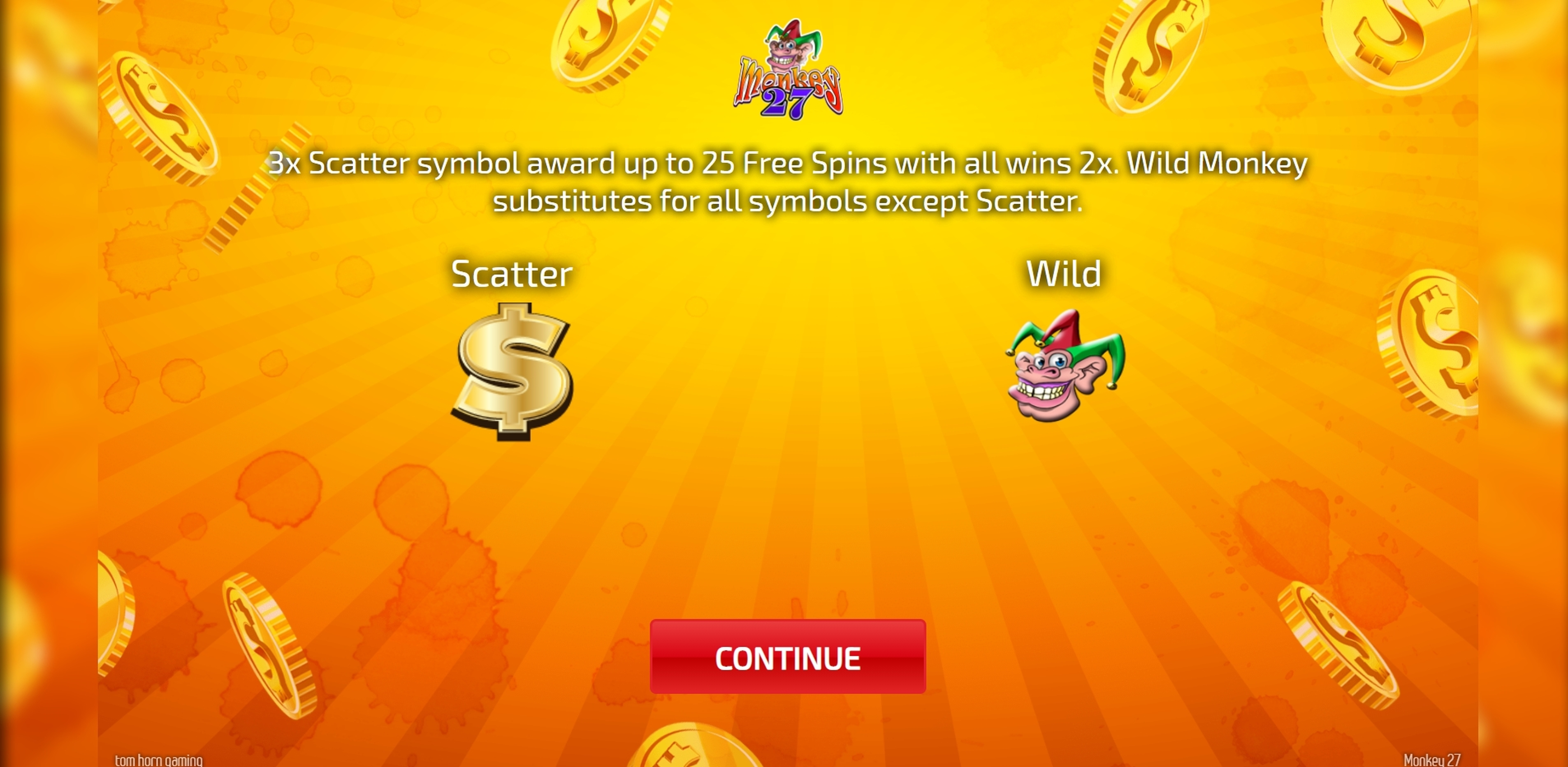 Play Monkey 27 Free Casino Slot Game by Tom Horn Gaming