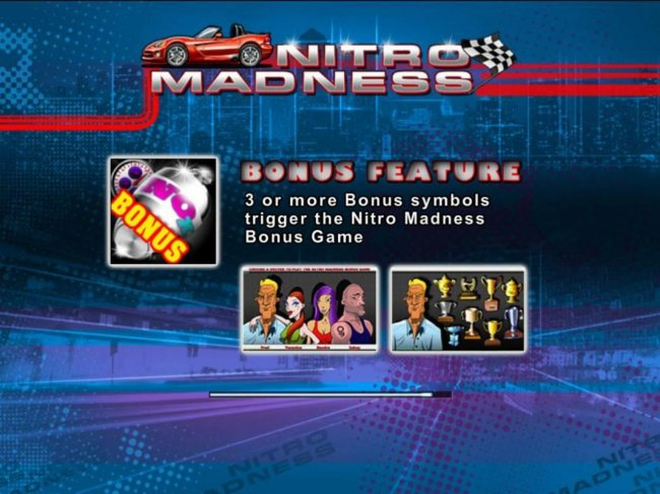 The Nitro Madness Online Slot Demo Game by Tom Horn Gaming