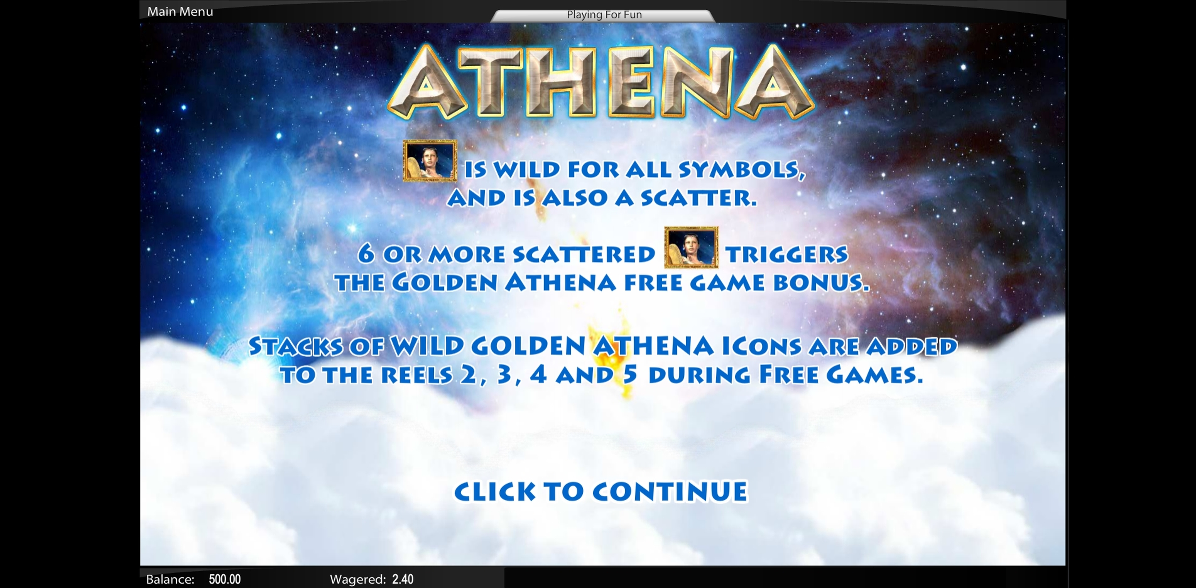 Play Athena Free Casino Slot Game by TOP TREND GAMING