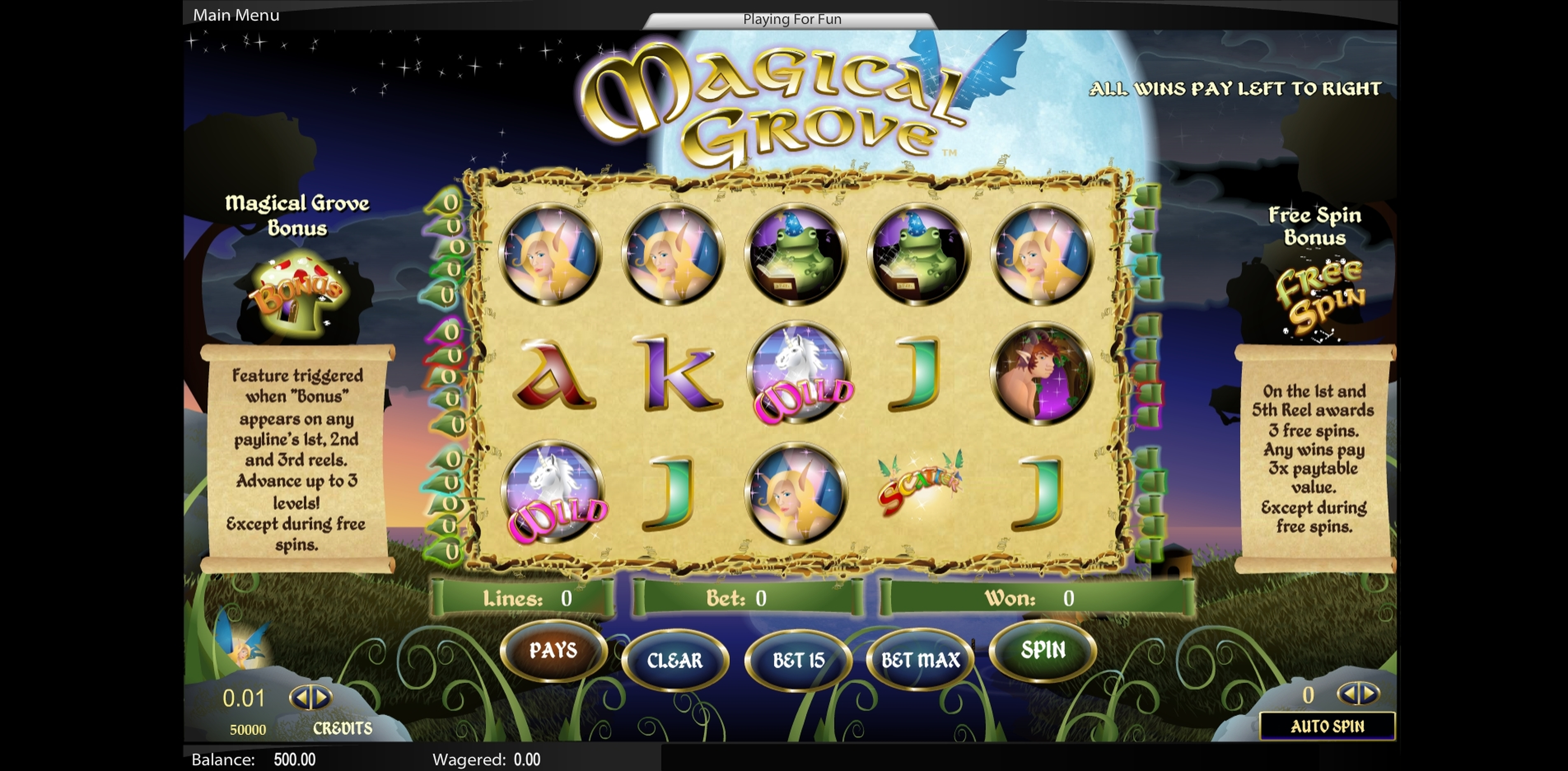 Reels in Magical Grove Slot Game by Top Trend Gaming