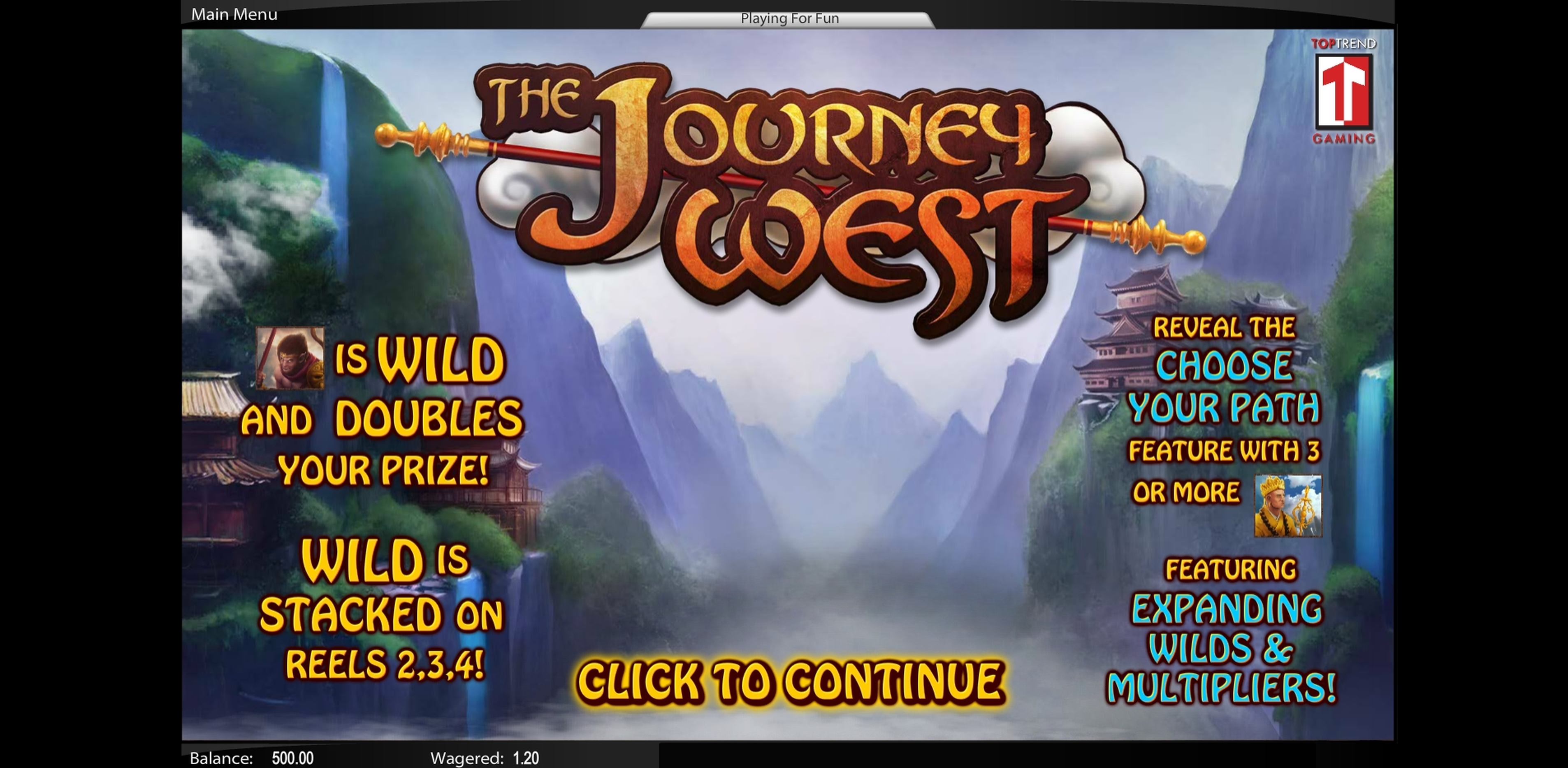 Play The Journey West Free Casino Slot Game by Top Trend Gaming