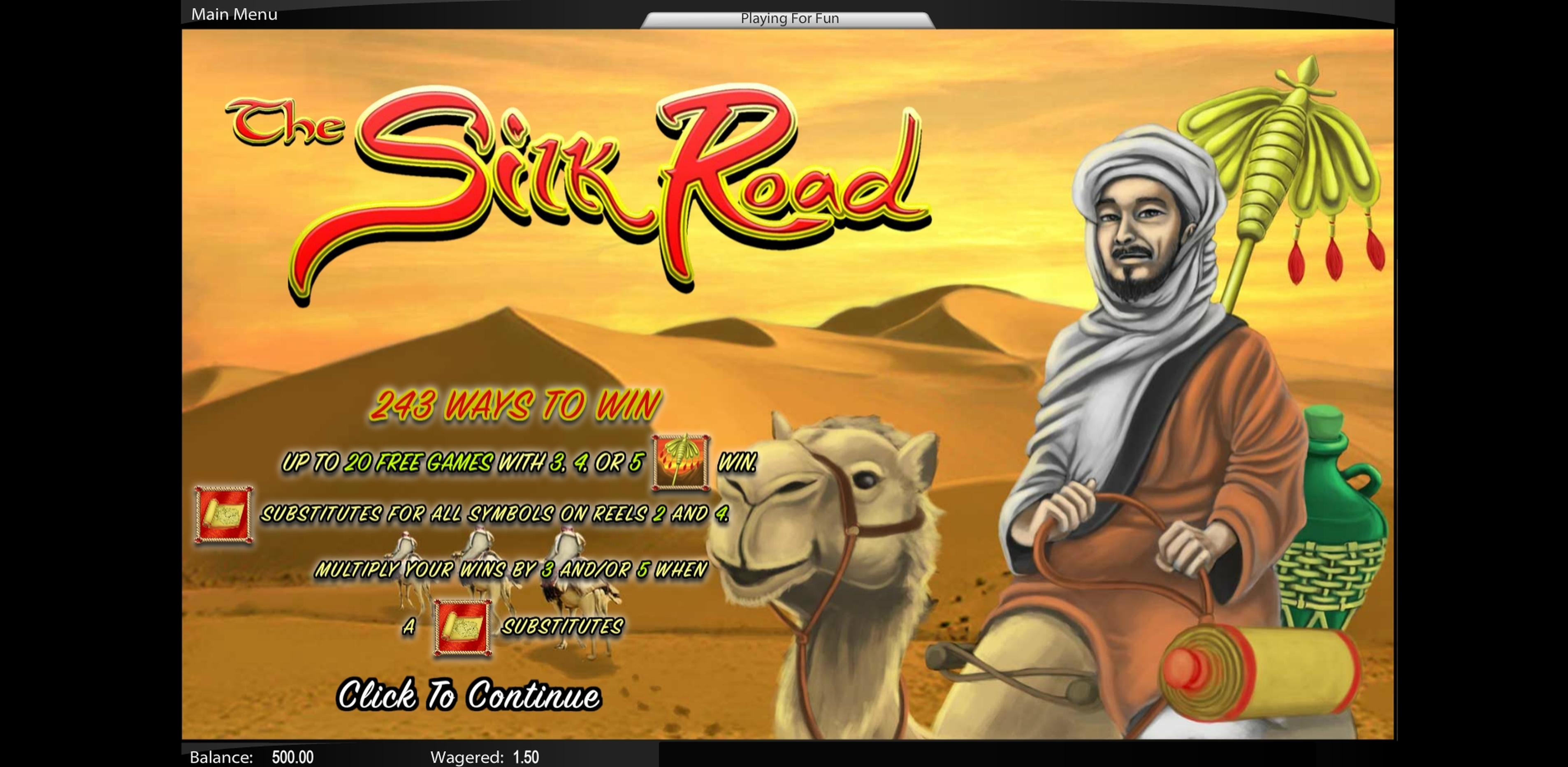 Play The Silk Road Free Casino Slot Game by Top Trend Gaming
