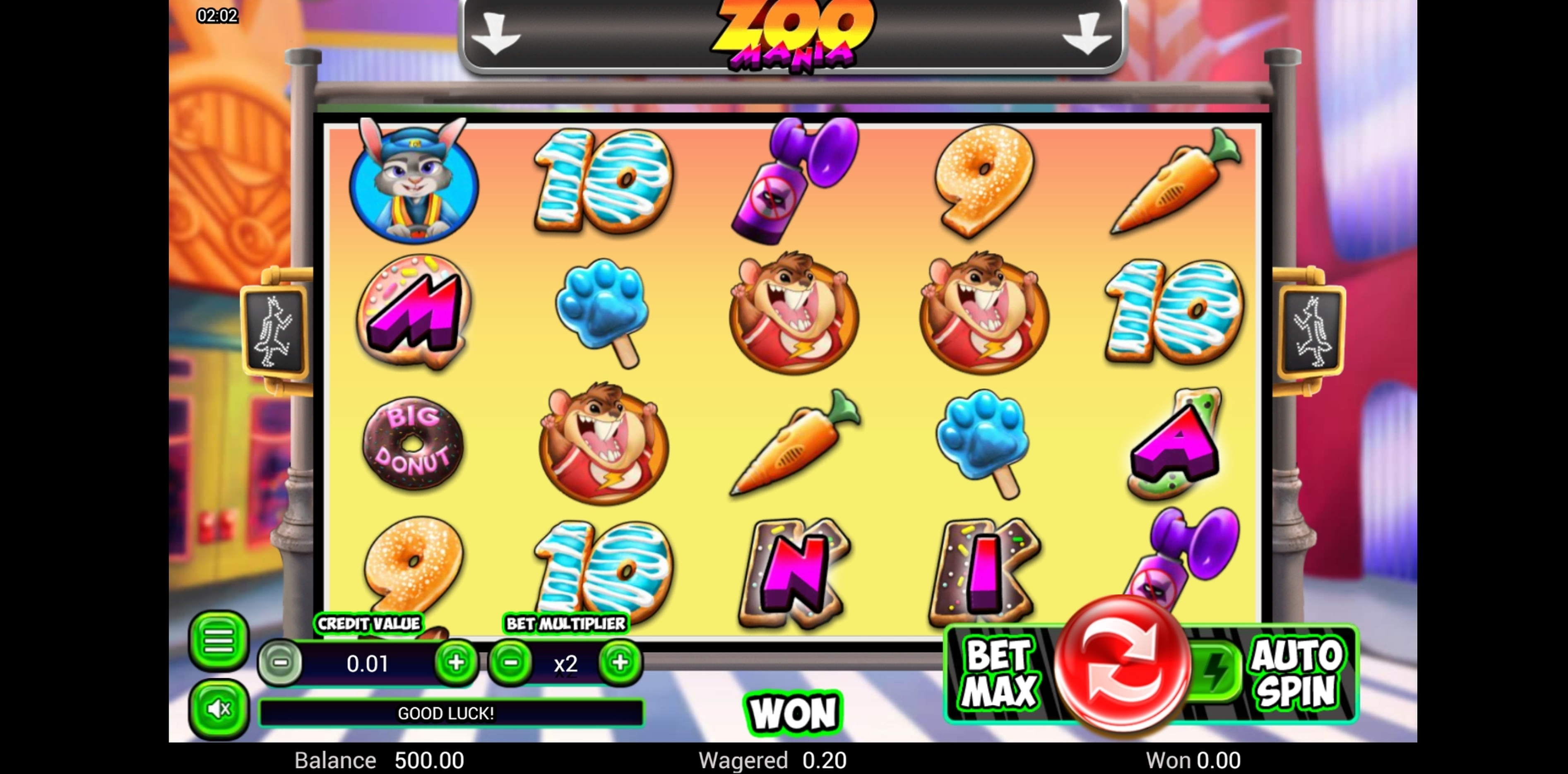 Reels in Zoomania Slot Game by Top Trend Gaming