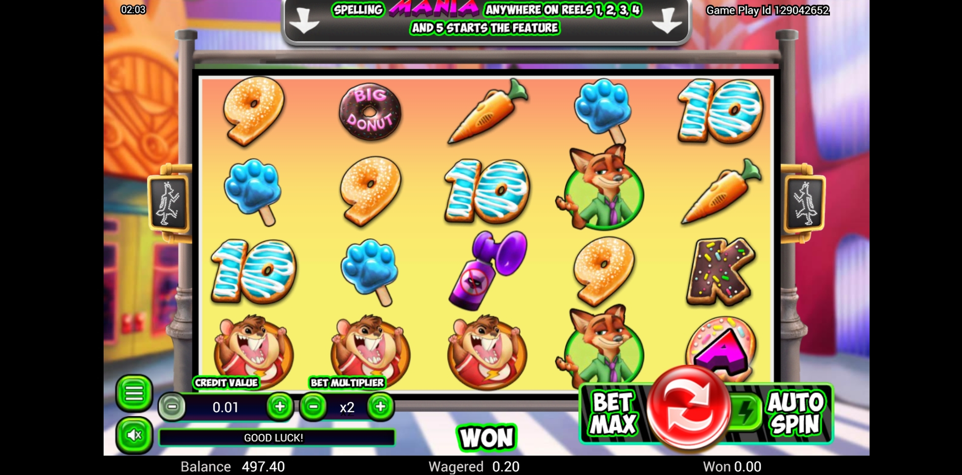 Win Money in Zoomania Free Slot Game by Top Trend Gaming