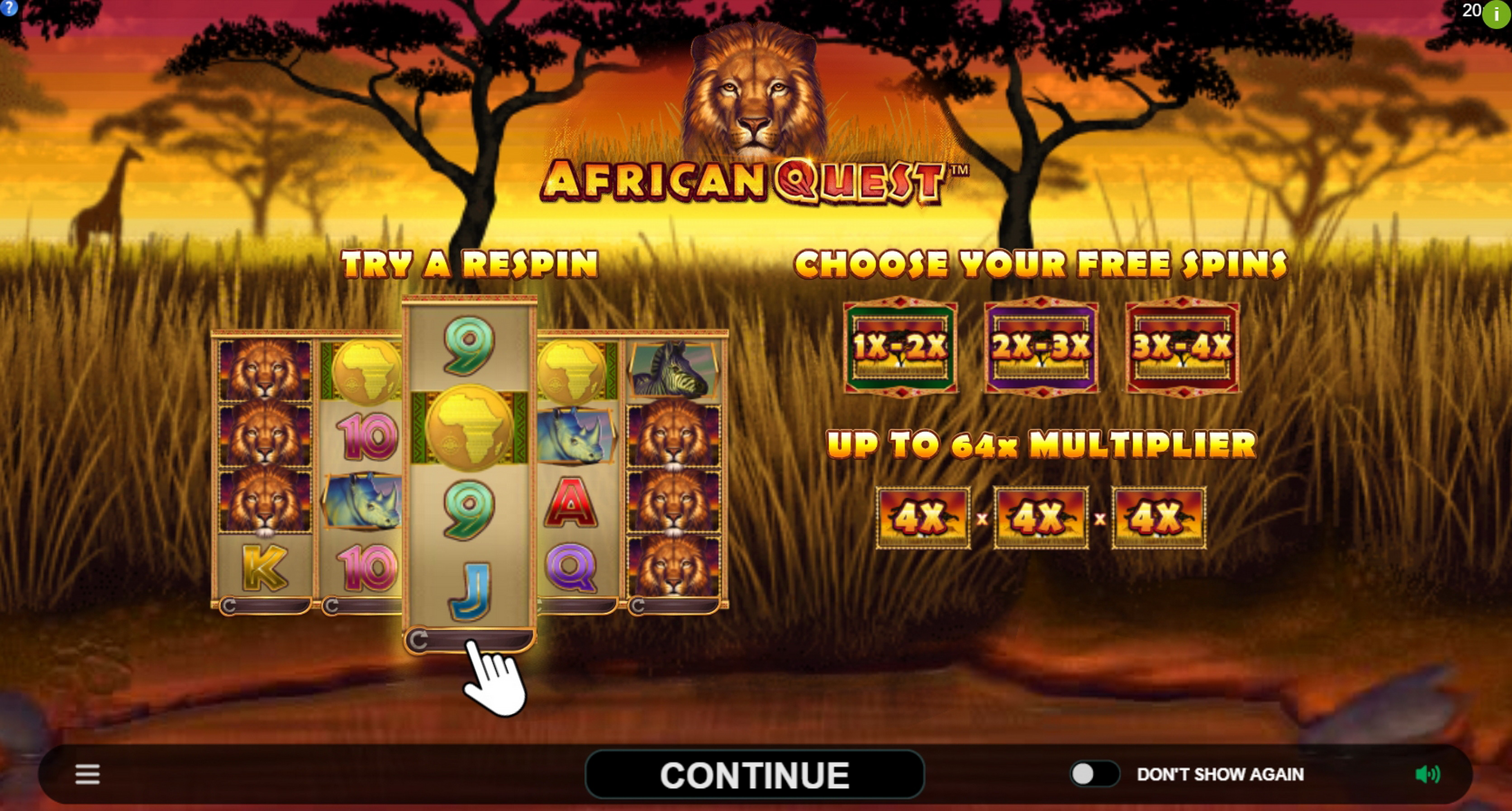 Play African Quest Free Casino Slot Game by Triple Edge Studios