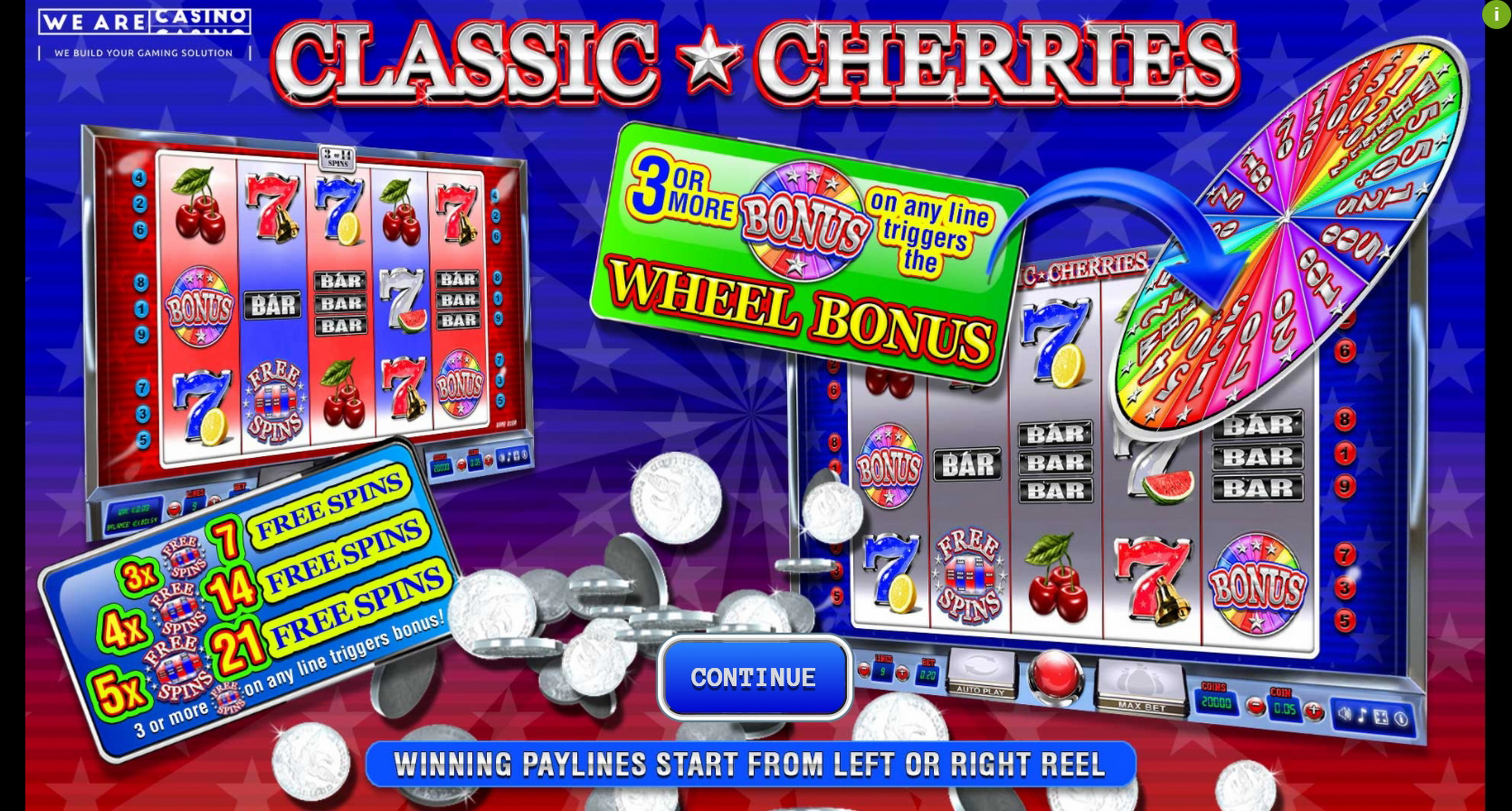 Play Classic Cherries Free Casino Slot Game by We Are Casino