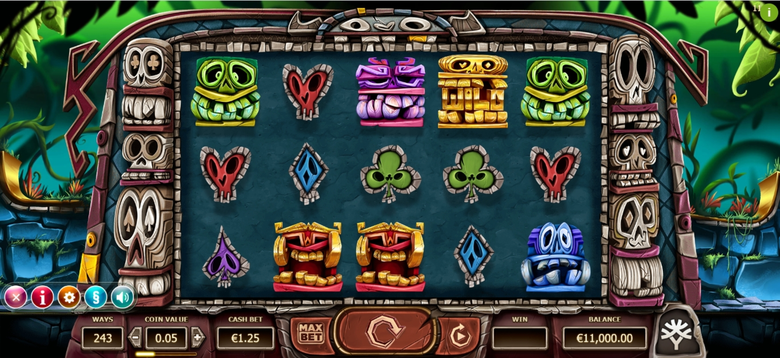 Reels in Big Blox Slot Game by Yggdrasil