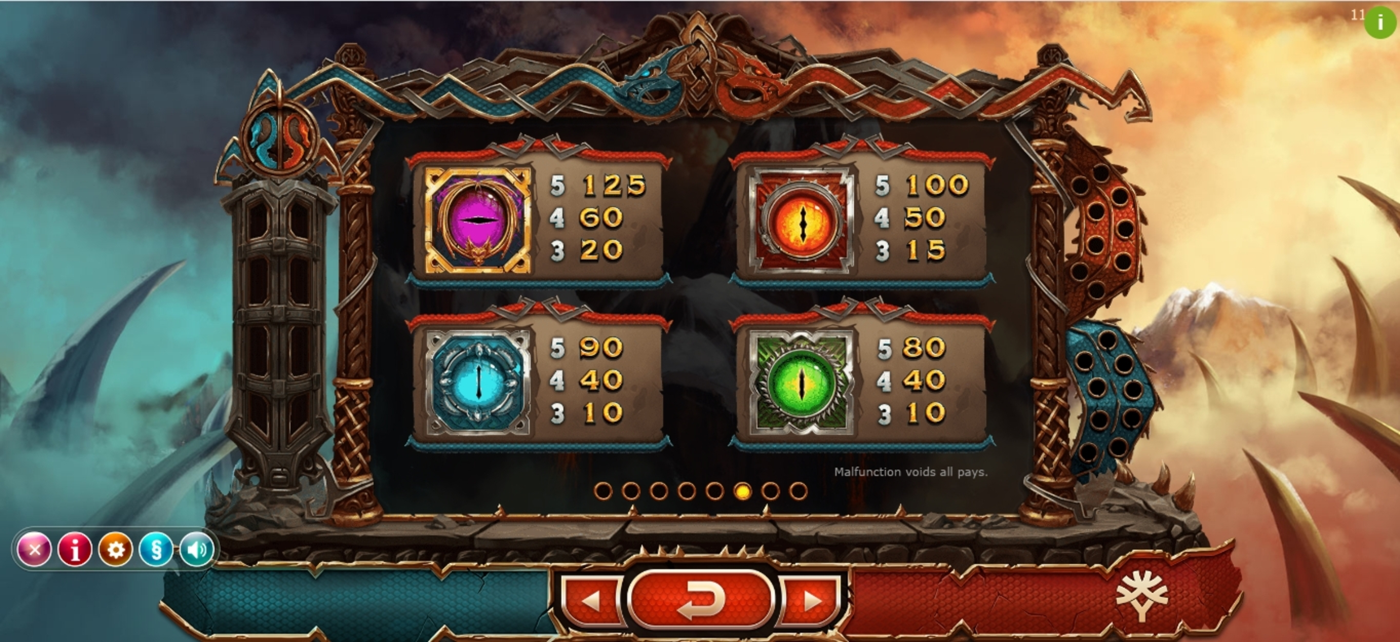 Info of Double Dragons Slot Game by Yggdrasil