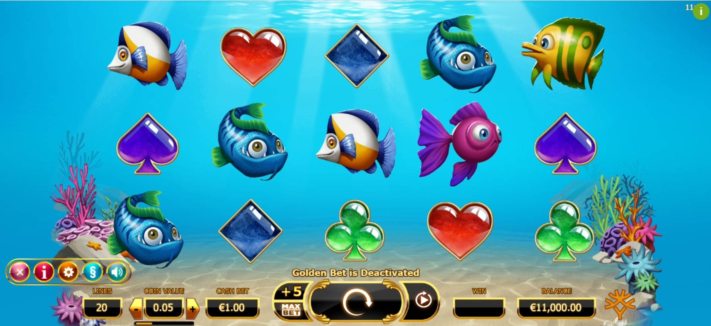 Reels in Golden Fish Tank Slot Game by Yggdrasil