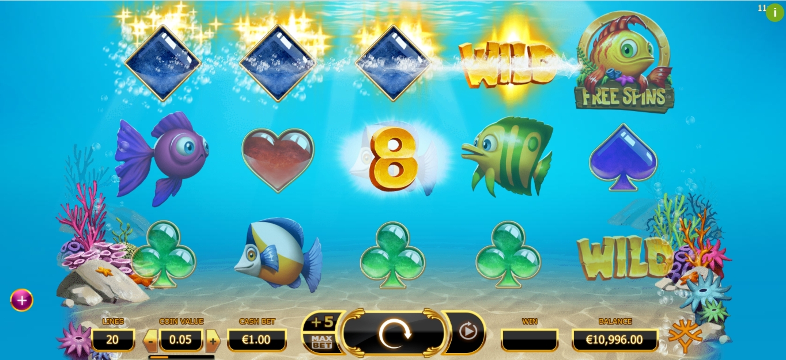 Win Money in Golden Fish Tank Free Slot Game by Yggdrasil