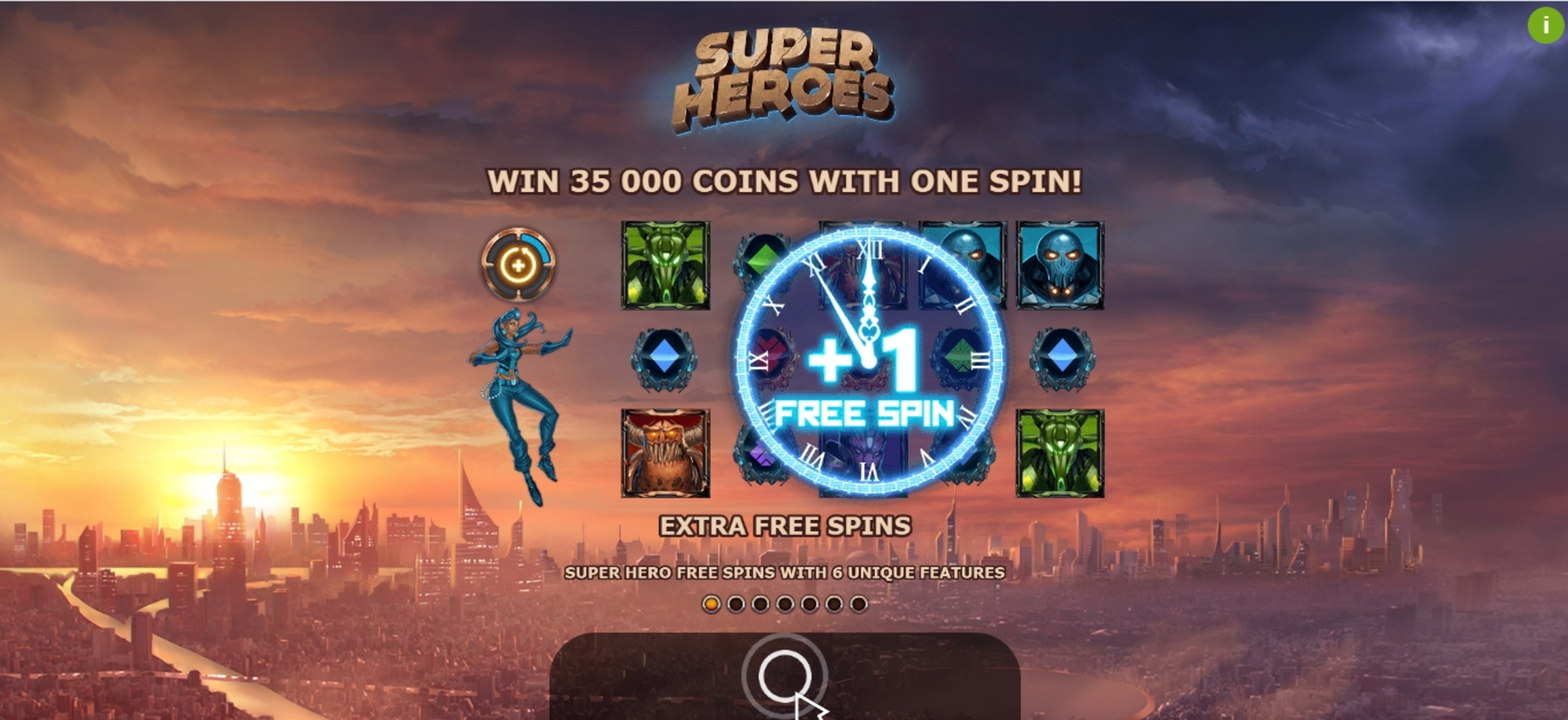 Play Super Heroes Free Casino Slot Game by Yggdrasil