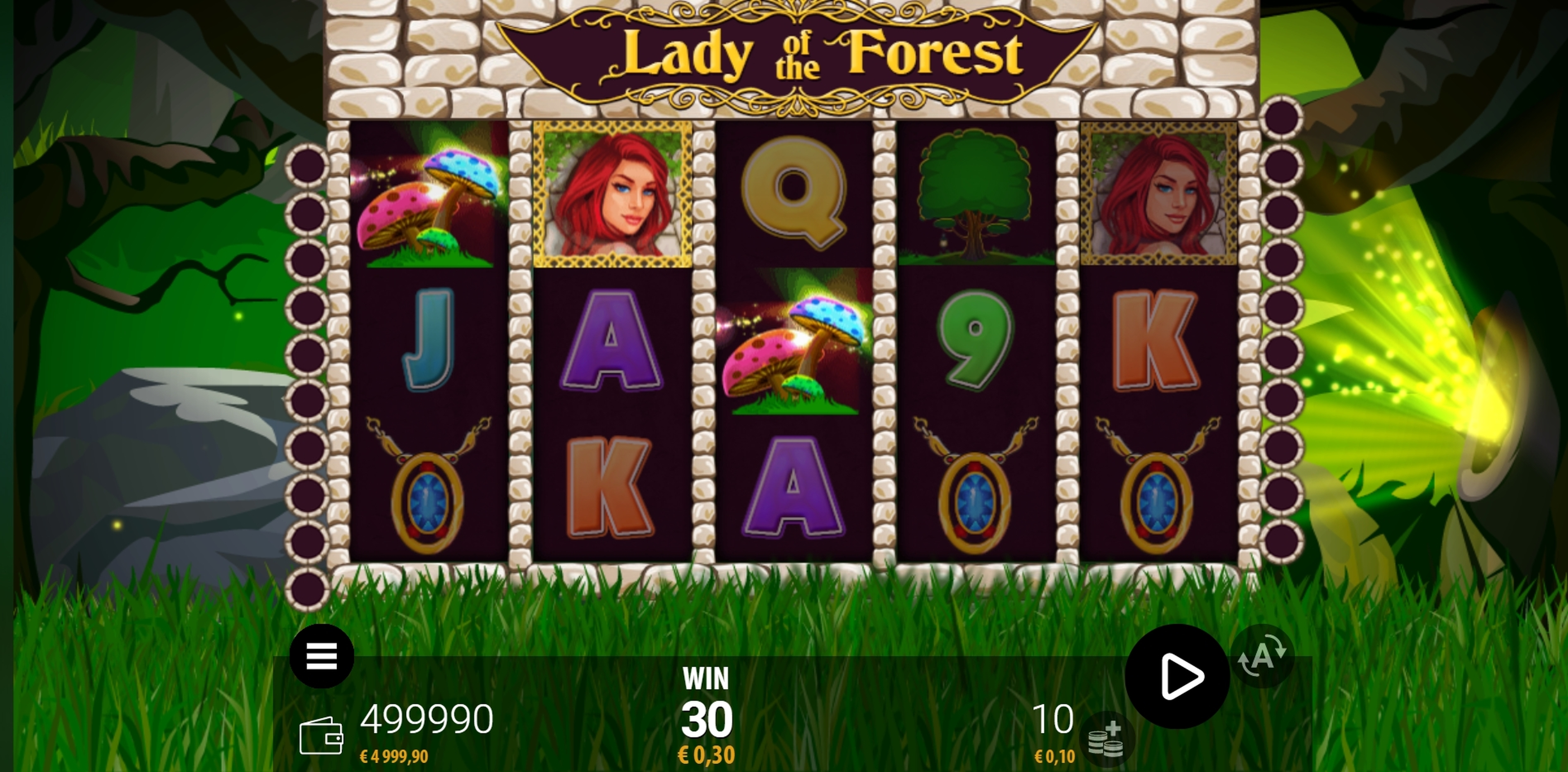 Win Money in Lady of the Forest Free Slot Game by ZEUS PLAY