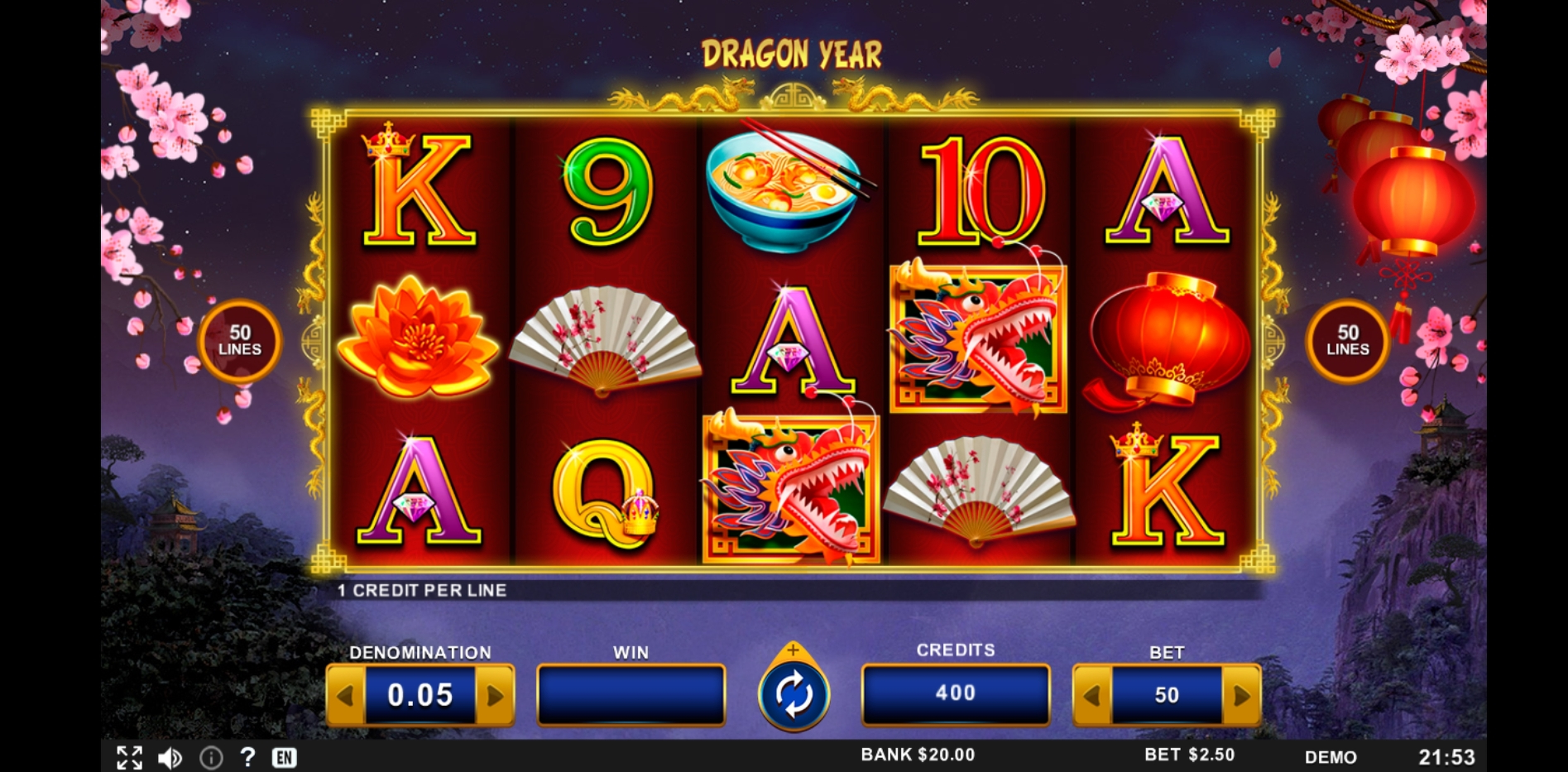 Reels in Dragon Year Slot Game by Zitro